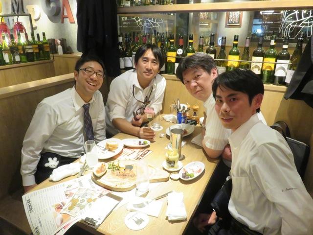 福井大学准教授北井先生も一緒に食事会