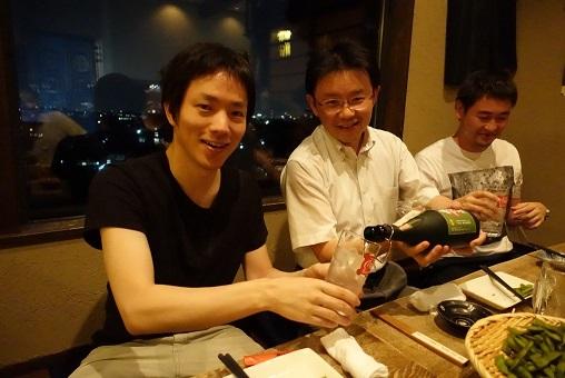 ほっとした笑顔の会田先生