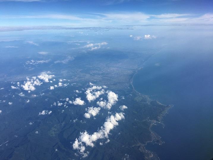 空から見た霧島の山並み