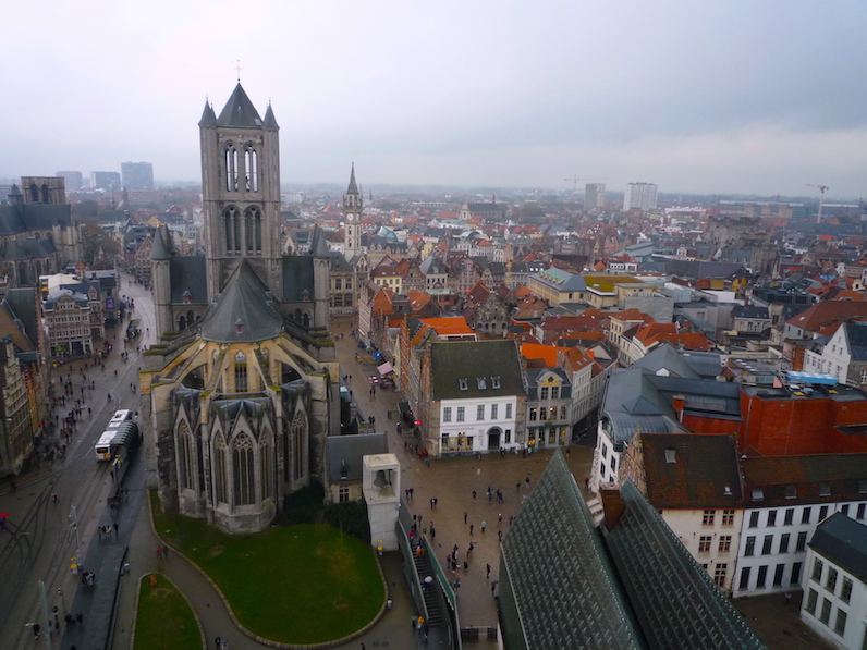 大鐘楼から一望したゲント市街